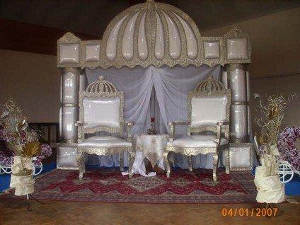 trône argenté